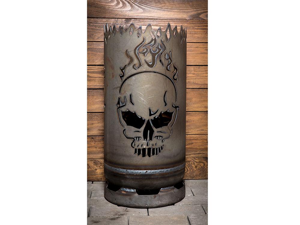 """Feuertonne - klein """"Biker - Skull"""""""