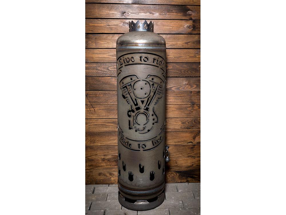 """Feuerstelle """"Chopper 2 Zylinder"""""""