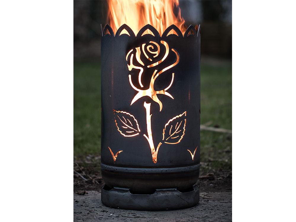 """Feuertonne - klein """"Rose"""""""