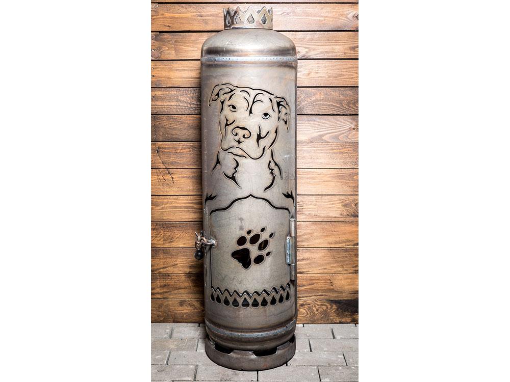 "Feuerstelle ""American Staffordshire Terrier"""
