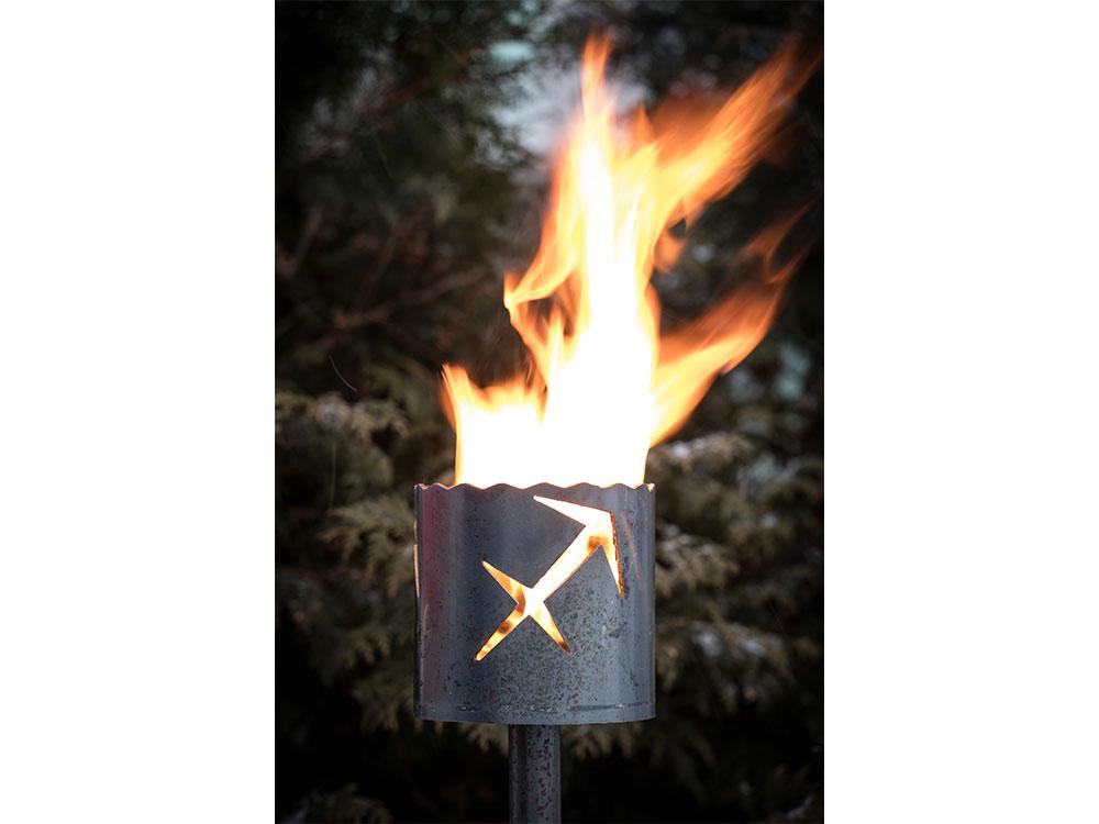 Gartenfackel Sternzeichen Schütze - inkl. Fackelstiel 120 cm unangespitzt und 1 x Brennmaterial