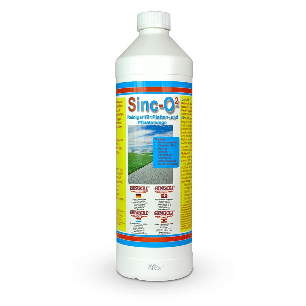 Primero Sinc-O² Konzentrat, Reiniger für Wege und Pflasterflächen für den Außenbereich, 1L