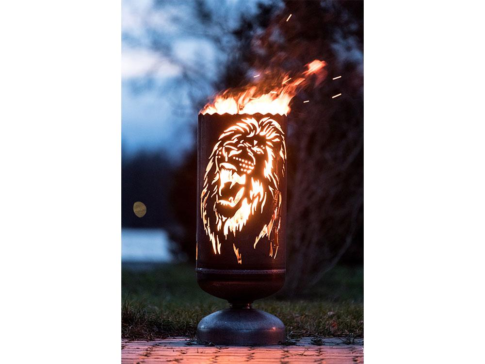 """Feuerkorb """"Löwe"""""""